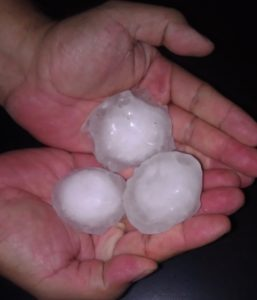 Large golfball sized hail