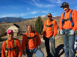 Roof Installers ready to work on a roof repair