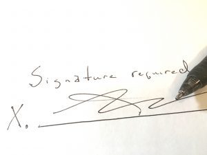 mortgage company signature required