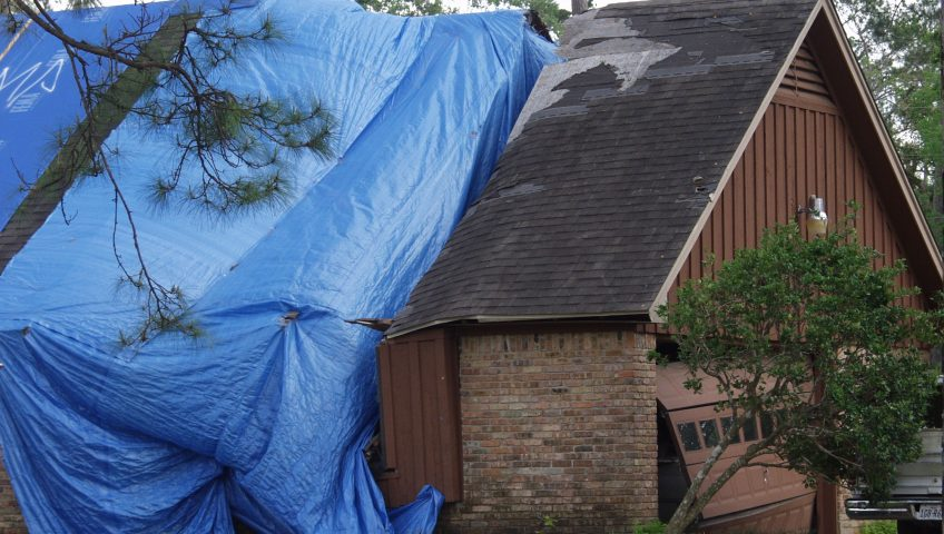 major roof damage from wind