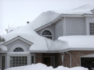 roof covered with snow