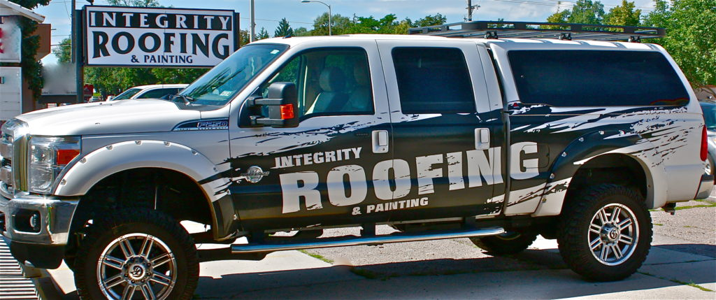 Integrity Roofing & Painting Logo Truck
