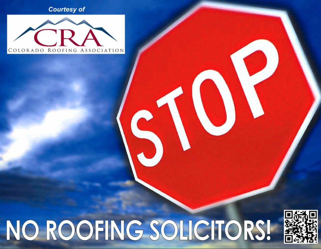 STOP ROOFING SOLICITORS SIGN